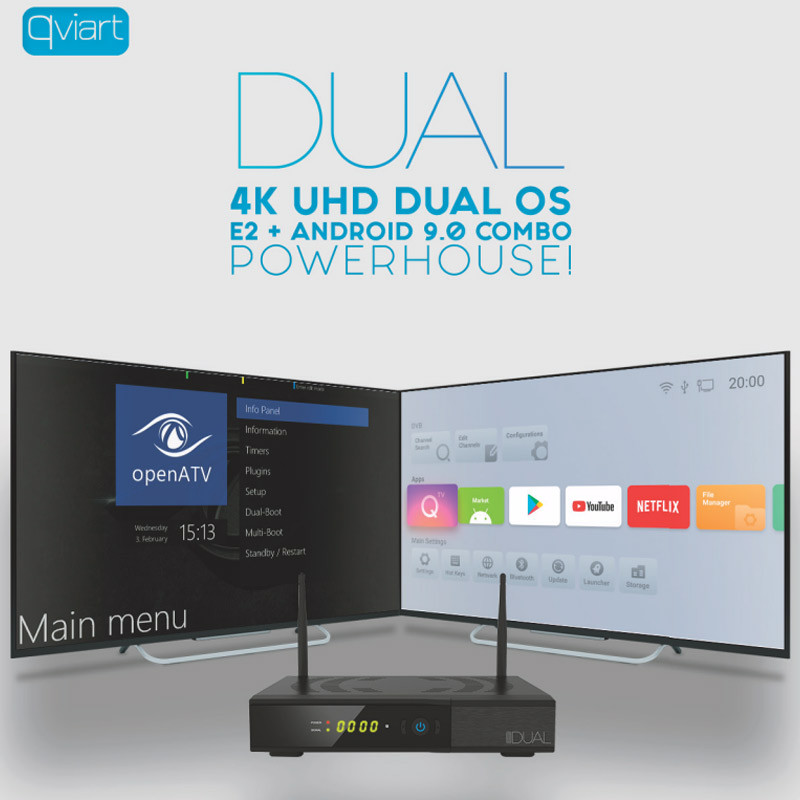 QVIART DUAL 4K [E2 + ANDROID 9.0] SAT+CABO+TDT+IPTV Qviart-dual-1